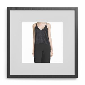 HALSTON HERITAGE BEADED HIGH-LOW BLOUSE