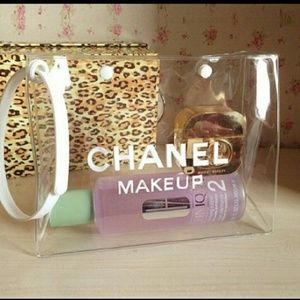 CHANEL  Handbags - CHANEL VIP clear make up bag