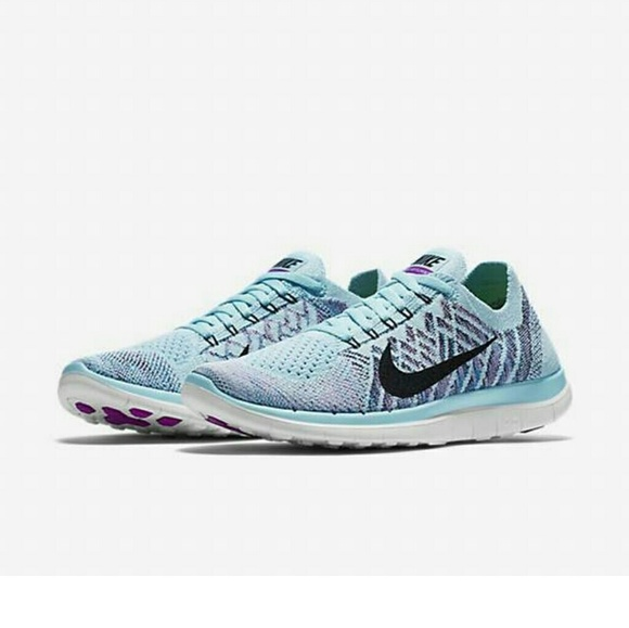 Nike Shoes Flyknit Free 40 Womens Size 9 Blue Poshmark