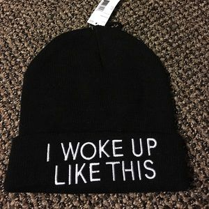 "Sears Accessories - ""I Woke Up Like This"" Beanie"