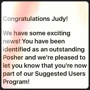 🎉🎉POSH AMBASSADOR & SUGGESTED USER🎉🎉