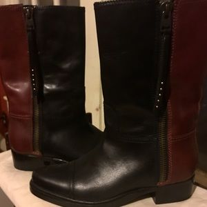 Coach Shoes - 2 DAY SALE! ❤️️Coach two toned boots 9 EUC!❤️️