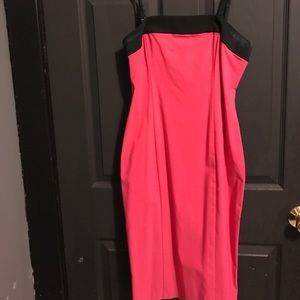 Express Dresses & Skirts - Hot pink and black pencil dress
