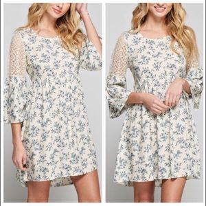 October Love Dresses & Skirts - Adorable Ivory Lace Floral Dress