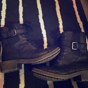 Rocket Dog Shoes - Black combat boots size 7