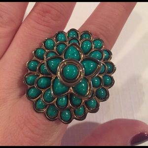 Amrita Singh Jewelry - Amrita Singh Turquoise Stone & Gold Plated Ring