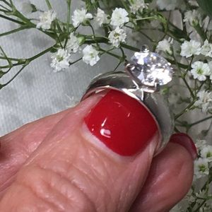 Jewelry - Authentic Cubic Zirconia Sterling Silver Ring