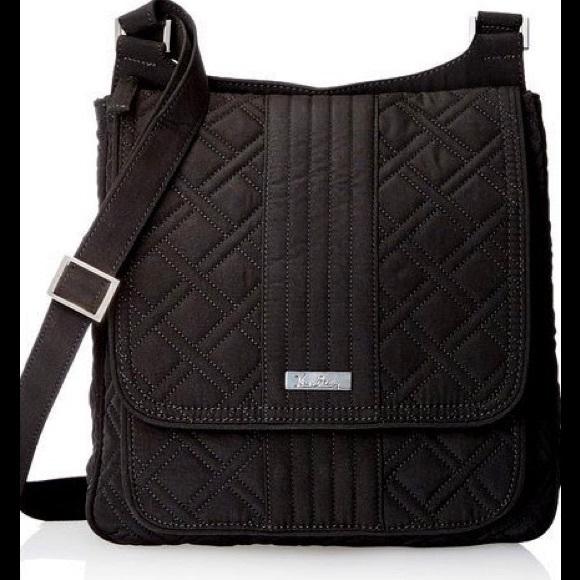 NWT Vera Bradley mailbag crossbody classic black 2812c1892747f
