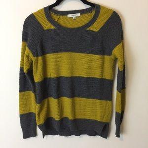 Madewell Sweaters - Madewell Lime & Grey Striped Sweater