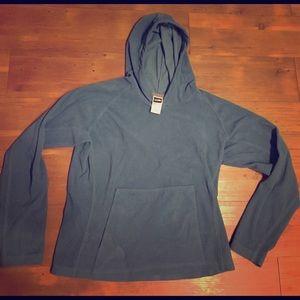 North Face women's cozy blue fleece hoodie ☃️