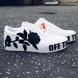 Vans Shoes | Vans Platform White Custom