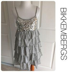 Bikkembergs Dresses & Skirts - BIKKEMBERGS sequin and ruffle dress size S