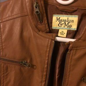 Maralyn & Me Jackets & Blazers - Brown pleather jacket