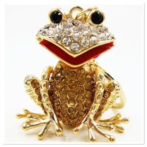 Gold Jeweled Frog