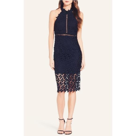 Gemma Halter Lace Sheath Dress Boutique