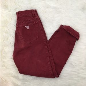 Vintage Guess High Waisted Red Jeans