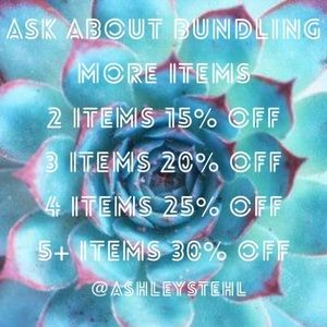 Ask me about bundling more items