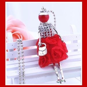 Lady in Red Pendant