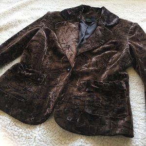 Grace Elements Jackets & Blazers - Grace Elements Crushed Velvet Blazer, sz 4