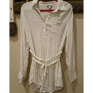 Liz Lange for Target Tops - Liz Lange maternity white tunic size medium