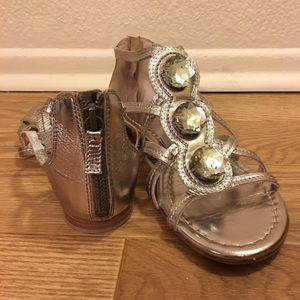 Boden Shoes - Boden Jeweled Metallic Sandals with leather soles