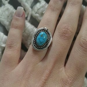 Child of Wild Jewelry - vintage sterling silver turquoise ring