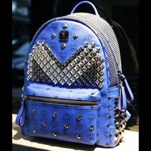 MCM Handbags - MCM Blue Studded Backpack