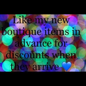 NEW boutique items arriving soon  for Discounts