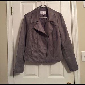 Jack by BB Dakota Jackets & Blazers - Gray Suede Jacket