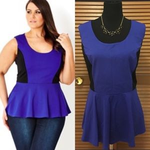 City Chic Tops - 🎉 NWT City Chic plus size peplum top L = 20 blue
