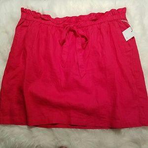 Kenar Dresses & Skirts - KENAR Linen Drawstring Waist Mini Skirt