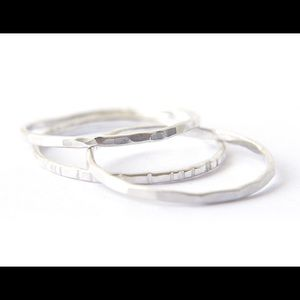 nejd Jewelry - 925 Sterling Silver Stacking ring Set