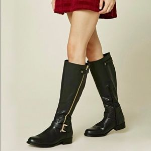Forever 21 Shoes - ✨BRAND NEW✨ Knee-High Faux Leather Boots (Black)