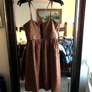 Esley Dresses & Skirts - 💓💓Leopard print vintage style dress w/open back.