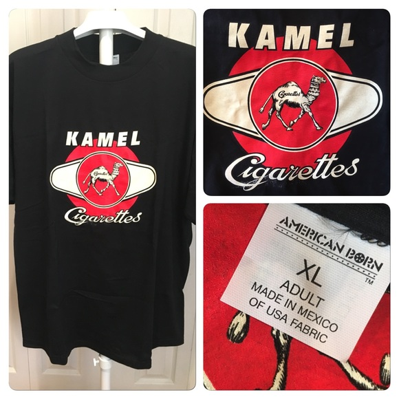 Vtg Rare Kamel Reds cigarette promo tee