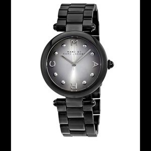 Marc by Marc Jacob monochromatic watch Black NWT