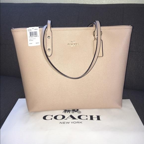 7d336fa45172 ... tote 55a8e a973a australia coach totenude beechwood 40da3 e9700  wholesale coach poppy pink ...