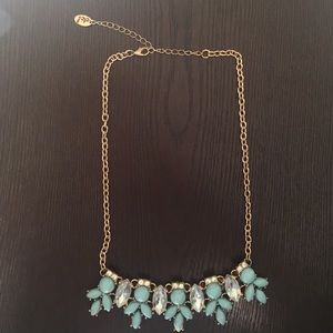 Turquoise/Gold Statement Necklace