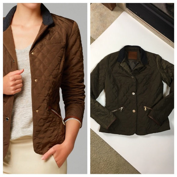 017ab8ef52 Classic Massimo Dutti Quilted Jacket in Olive - S.  M_58b5798613302a935f000844