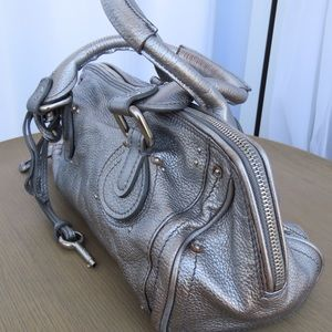 Chloe Metallic Paddington Bag