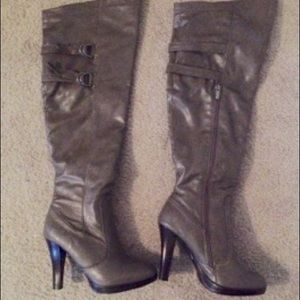 JustFab Shoes - Size 8.5 Over the Knee Boots in color Taupe