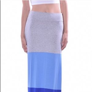 Dresses & Skirts - NEW Color block Maxi skirts w/ blue and gray color