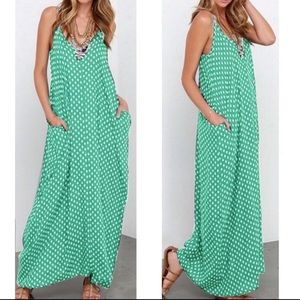 GREEN POLKA DOT DRESS!!✔️