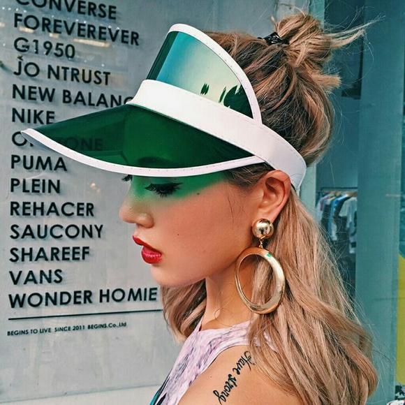 Green Transparent Sun Visor Hat 12d1d88ebf7