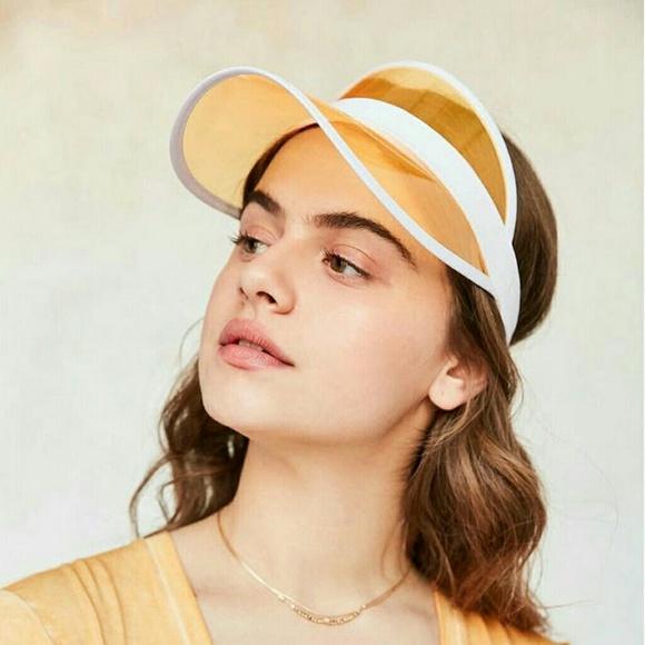 Yellow Transparent Sun Visor Hat 8bea76ef9bd