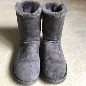 Grey Baily Bow Uggs