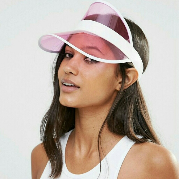 Pink Transparent Sun Visor Hat 9437db886a7