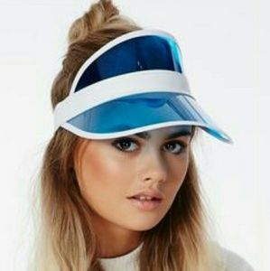 Blue Transparent Sun Visor Hat