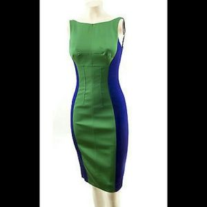 Sz 2 brand new Karen Millen green/purple sheath
