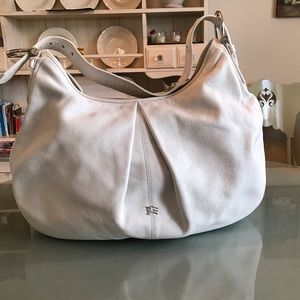 Burberry Handbags - Authentic Burberry Leather XL Hobo Bag